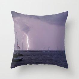 Lightening In Stonington Throw Pillow