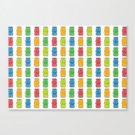 Rainbow Gummy Bears Canvas Print