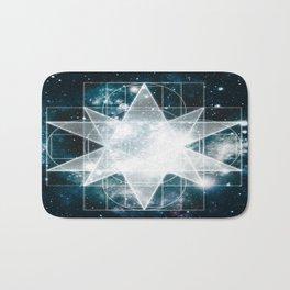 Sacred Geometry : Teal Galaxy Bath Mat