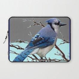 TEAL AMERICAN BLUE JAYS  GREY WINTER ART Laptop Sleeve