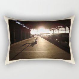 London Bridge Station - The Winter Sun Rectangular Pillow