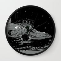 astronomy Wall Clocks featuring Astronomy Jim by Allie Morris