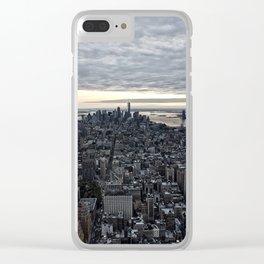 New York skyline x Clear iPhone Case