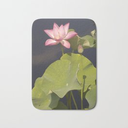 Pink Lotus by Teresa Thompson Bath Mat