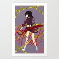 kill la kill Art Prints featuring Kill la Kill by Jojieon