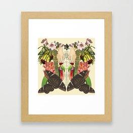 No judging Framed Art Print