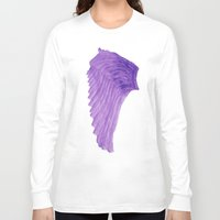 angel wings Long Sleeve T-shirts featuring Purple Angel Wings by The Bohemian Bubble