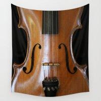 violin Wall Tapestries featuring Violin by Päivi Vikström