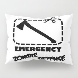 Zombie  - Emergency Defense Axe Pillow Sham
