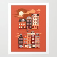 amsterdam Art Prints featuring Amsterdam! by Marco Angeles