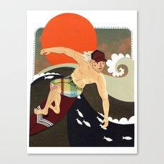 Sexy surfer Canvas Print