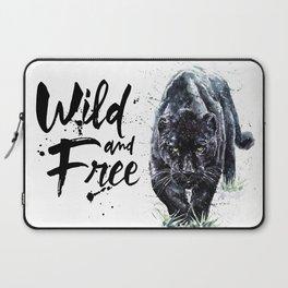 Panther watercolor painting predator animals puma jaguar wild & fre Laptop Sleeve