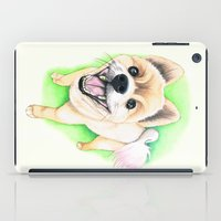 pomeranian iPad Cases featuring Pomeranian dog  - F.I.P. - Jack-Jack by PaperTigress