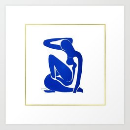 Henri Matisse, Nu Bleu II (Blue Nude II) lithograph modernism portrait painting Art Print
