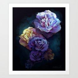 Moonlight Bloom Art Print