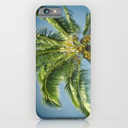 keanae hawaiian coconut palm tree iPhone Case