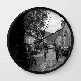 Streets of Freiburg Wall Clock