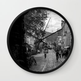 Streets of Freiburg Wall Clock