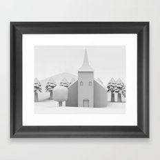 The Lonely Church Framed Art Print
