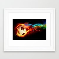 soccer Framed Art Prints featuring Soccer  by Marvin Castro