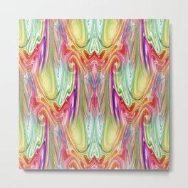 Paint Drips Art Deco Elegant Rainbow Metal Print