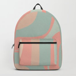 Retro Groove Blush Mint Backpack