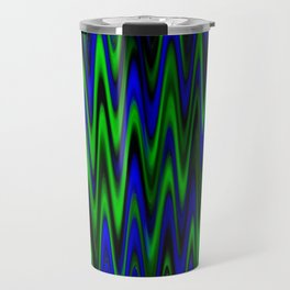 WAVY #1 (Blues & Greens) Travel Mug