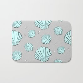 Sea shell jewel pattern Bath Mat
