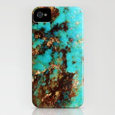 Turquoise I iPhone (4, 4s) Slim Case