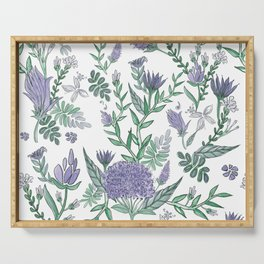 Lavender Florals Serving Tray