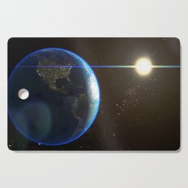 Night Lighted Earth from space Cutting Board
