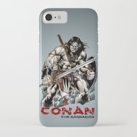 conan iPhone & iPod Cases featuring Conan by CromMorc