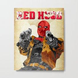 Red Hood Metal Print