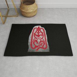 Swedish viking runestone Rug