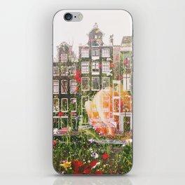 Flowers in Amsterdam iPhone Skin