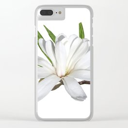 The Flower is the Star (Magnolia) Clear iPhone Case