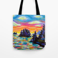 Landscape With Saucers Tote Bag