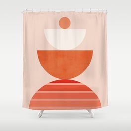 Abstraction_Sunset_Balance_Minimalism_011 Shower Curtain