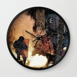 FRENCH LABOUR RIOTS - 1 Wall Clock