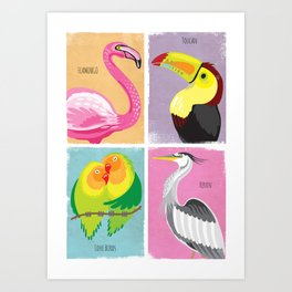 Bright Birds Art Print