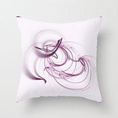 Lavender Swirls Throw Pillow