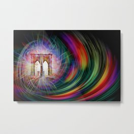 Our world is a magic - Time Tunnel 101 Metal Print