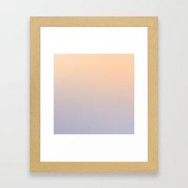 ASHES AND CREAM - Minimal Plain Soft Mood Color Blend Prints Framed Art Print