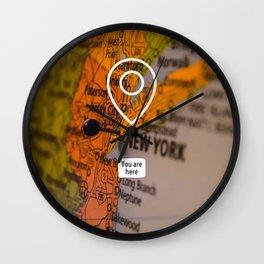 NYC you are here Wall Clock