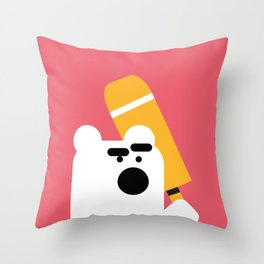Zedl Angry Bear Throw Pillow