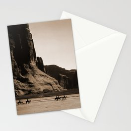 Canyon de Chelly - Chinle, Arizona – Navajo Indians on Horseback by Edward Curtis Stationery Cards
