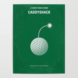 No013 My Caddyshack minimal movie poster Poster