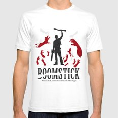 Boomstick SMALL White Mens Fitted Tee