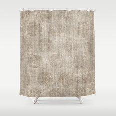 Poka dot burlap (Hessian series 2 of 3) Shower Curtain