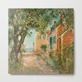 Classical Masterpiece 'Provincetown, Cape Cod' by Frederick Childe Hassam Metal Print